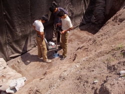CHINA - bridge foundation, testing of foundation backfill