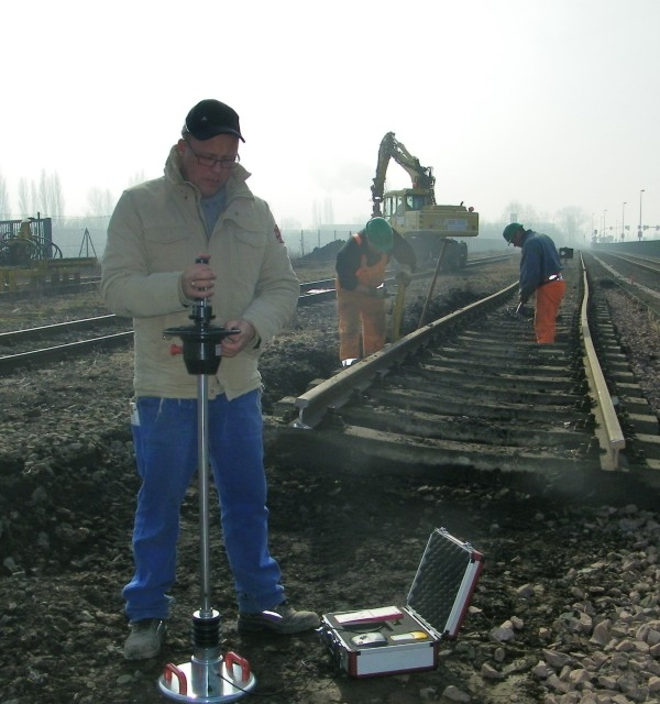 HMP LFG Dynamic Plate Load Tester on our track construction sites for quality assurance