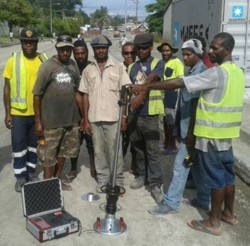 HMP LFGpro – bearing capacity test when constructing new roads on Papua New Guinea