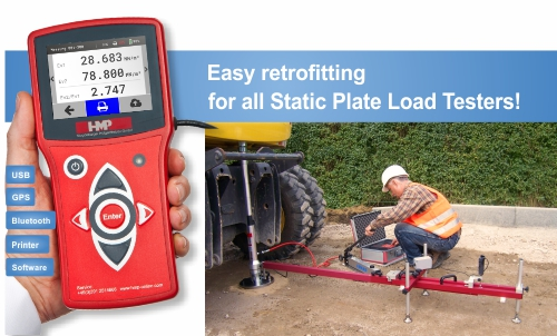Static plate load tester HMP PDGpro DIN 18134- animation