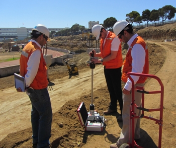 Chile - quality assurance by means of the HMP LFG, construction of the new soccer stadium in Valparaiso