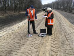 Fast measurement of the achieved compaction of backfills in railway construction of the Ukrainian Southern Railways by means of the Dynamic Plate Load Tester HMP LFG