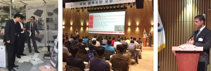 Great interest in specialist lecture regarding HMP LFG in Korea, Seoul at the international block paving forum 2015