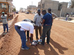 Senegal, Dakar - dynamic plate load tests by means of Light Weight Deflectometer HMP LFG