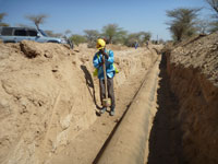 Somaliland, Hargeisa - municipal water authority relies on HMP LFGpro for pipeline construction