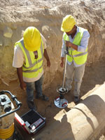 Light Weight Deflectometer HMP LFG for compaction control and bearing capacity in Somalia, Somaliland - Hargeisa/ Hargeysa