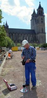 cathedral of magdeburg dynamic plate load test with the light weight deflectometer hmp lfgpro